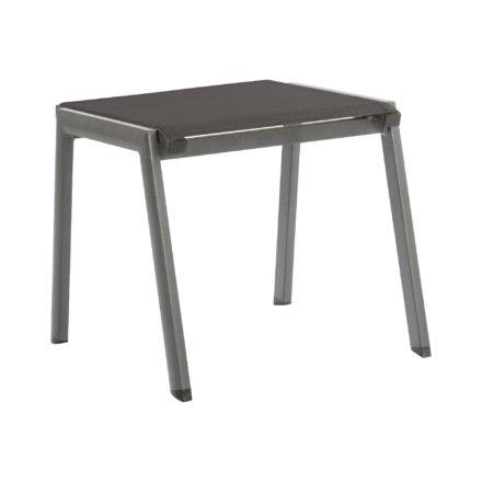 """Stern Gartenhocker """"Allround"""", Gestell Aluminium graphit, Sitzfläche Textil silbergrau"""