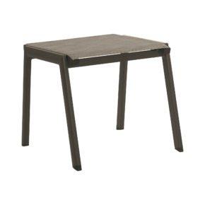 """Stern Gartenhocker """"Allround"""", Gestell Aluminium taupe, Sitzfläche Textil kaschmir"""