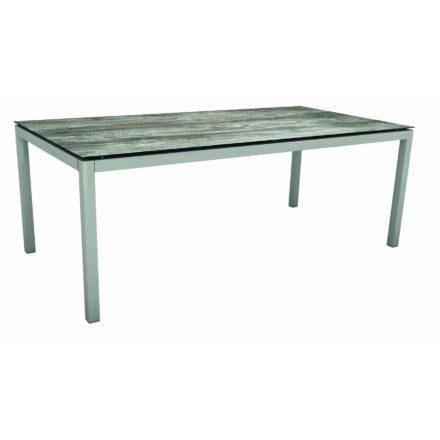 Stern Gartentisch, Gestell Aluminium graphit, Tischplatte HPL Tundra grau