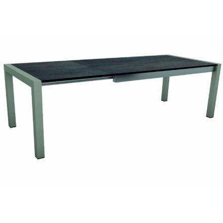 """Stern Ausziehtisch """"Standard"""", Gestell Aluminium graphit, Tischplatte HPL Nitro"""