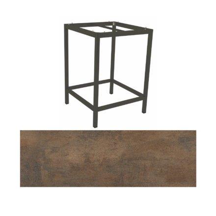 Stern Bartisch, Gestell Aluminium anthrazit, Tischplatte HPL Ferro