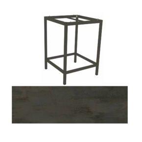 Stern Bartisch, Gestell Aluminium anthrazit, Tischplatte HPL Nitro