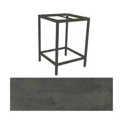 Stern Bartisch, Gestell Aluminium anthrazit, Tischplatte HPL Smoky