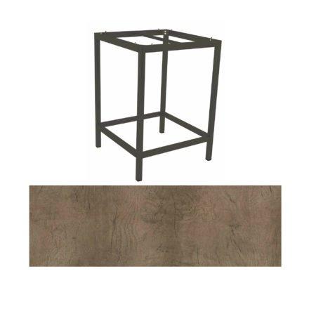 Stern Bartisch, Gestell Aluminium anthrazit, Tischplatte HPL Tundra braun