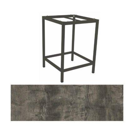 Stern Bartisch, Gestell Aluminium anthrazit, Tischplatte HPL Tundra grau
