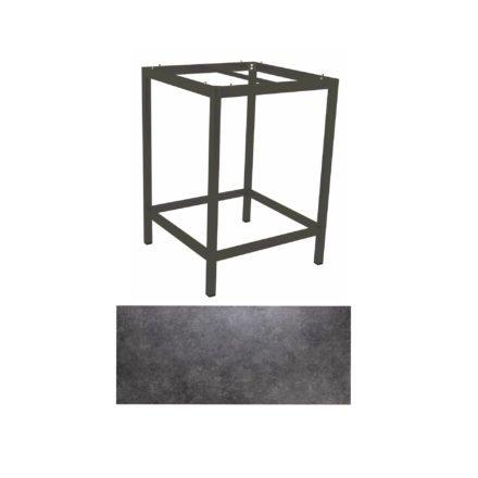 Stern Bartisch, Gestell Aluminium anthrazit, Tischplatte HPL Vintage grau