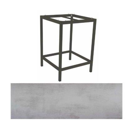 Stern Bartisch, Gestell Aluminium anthrazit, Tischplatte HPL Zement hell
