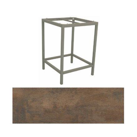 Stern Bartisch, Gestell Aluminium graphit, Tischplatte HPL Ferro