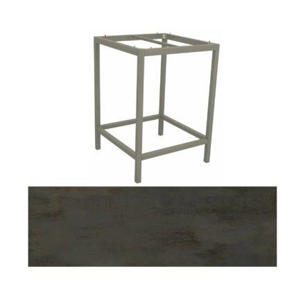Stern Bartisch, Gestell Aluminium graphit, Tischplatte HPL Nitro