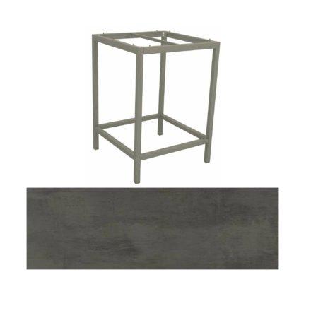 Stern Bartisch, Gestell Aluminium graphit, Tischplatte HPL Smoky