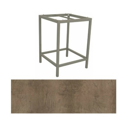 Stern Bartisch, Gestell Aluminium graphit, Tischplatte HPL Tundra braun