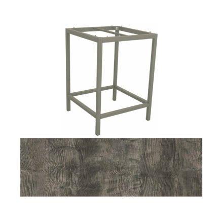 Stern Bartisch, Gestell Aluminium graphit, Tischplatte HPL Tundra grau