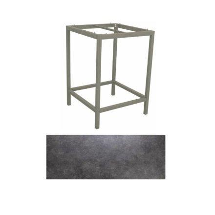 Stern Bartisch, Gestell Aluminium graphit, Tischplatte HPL Vintage grau