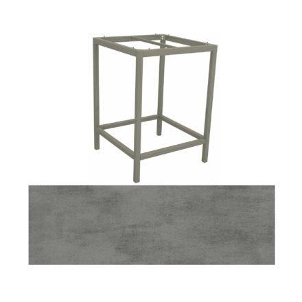 Stern Bartisch, Gestell Aluminium graphit, Tischplatte HPL Zement
