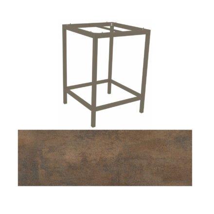 Stern Bartisch, Gestell Aluminium taupe, Tischplatte HPL Ferro