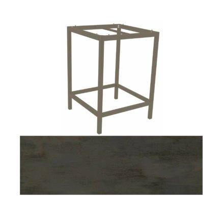 Stern Bartisch, Gestell Aluminium taupe, Tischplatte HPL Nitro