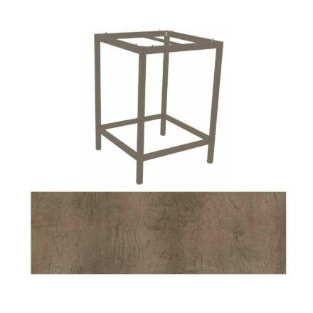 Stern Bartisch, Gestell Aluminium taupe, Tischplatte HPL Tundra braun