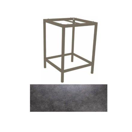 Stern Bartisch, Gestell Aluminium taupe, Tischplatte HPL Vintage grau