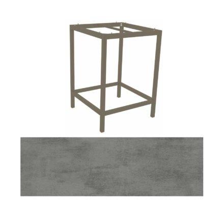 Stern Bartisch, Gestell Aluminium taupe, Tischplatte HPL Zement