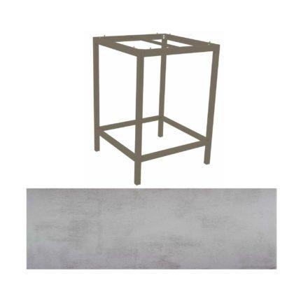 Stern Bartisch, Gestell Aluminium taupe, Tischplatte HPL Zement hell