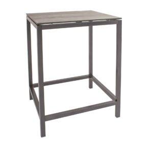 Stern Bartisch, Gestell Aluminium, Tischplatte HPL Tundra grau