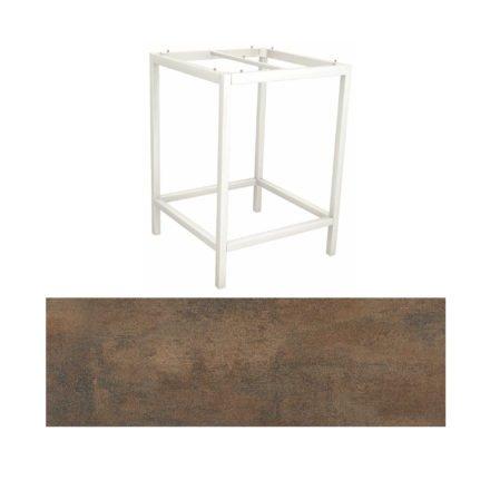 Stern Bartisch, Gestell Aluminium weiß, Tischplatte HPL Ferro