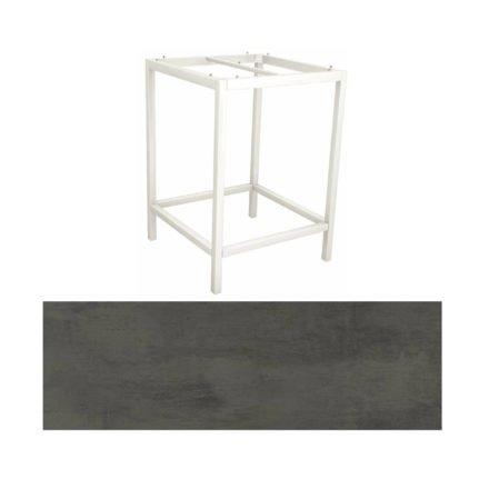 Stern Bartisch, Gestell Aluminium weiß, Tischplatte HPL Smoky