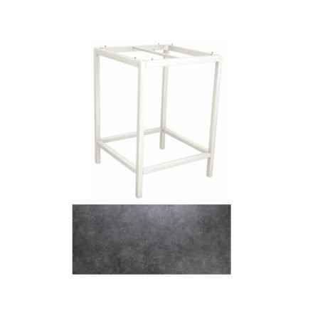 Stern Bartisch, Gestell Aluminium weiß, Tischplatte HPL Vintage grau
