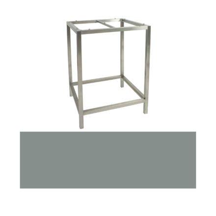 Stern Bartisch, Gestell Edelstahl, Tischplatte HPL Nordic Green