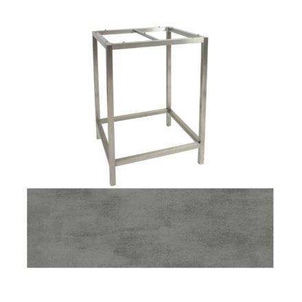 Stern Bartisch, Gestell Edelstahl, Tischplatte HPL Zement