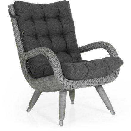 "Brafab ""Silva"" Relaxsesse, Gestell Aluminium, Polyrattan grau ummantelt, inklusive Polster aus 100% Olefin grau"