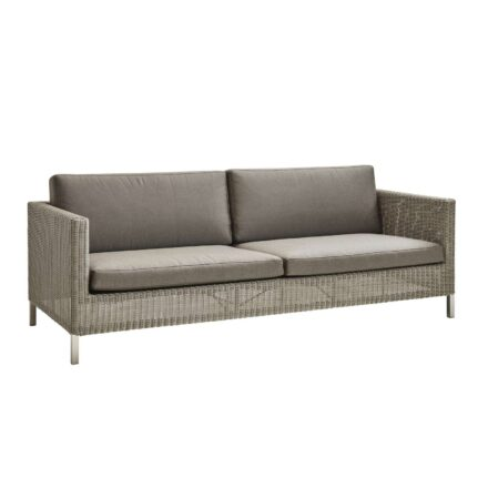 "Cane-line ""Connect"" Loungesofa, Geflecht taupe, mit Kissen taupe"