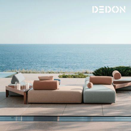 """DEDON """"BRIXX"""" Loungeset mit flexiblen runden und dreieckigen Rücklehnen"""