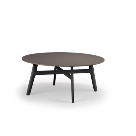 "DEDON Couchtisch ""SeaX"", Aluminiumgestell schwarz, Tischplatte Lapitec® Porzellan ebony"