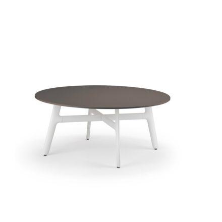 "DEDON Couchtisch ""SeaX"", Aluminiumgestell weiss, Tischplatte Lapitec® Porzellan ebony"