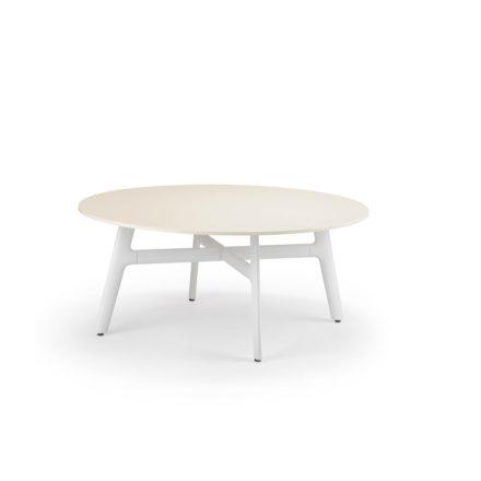 """DEDON Couchtisch """"SeaX"""", Aluminiumgestell weiss, Tischplatte Lapitec® Porzellan weiss"""