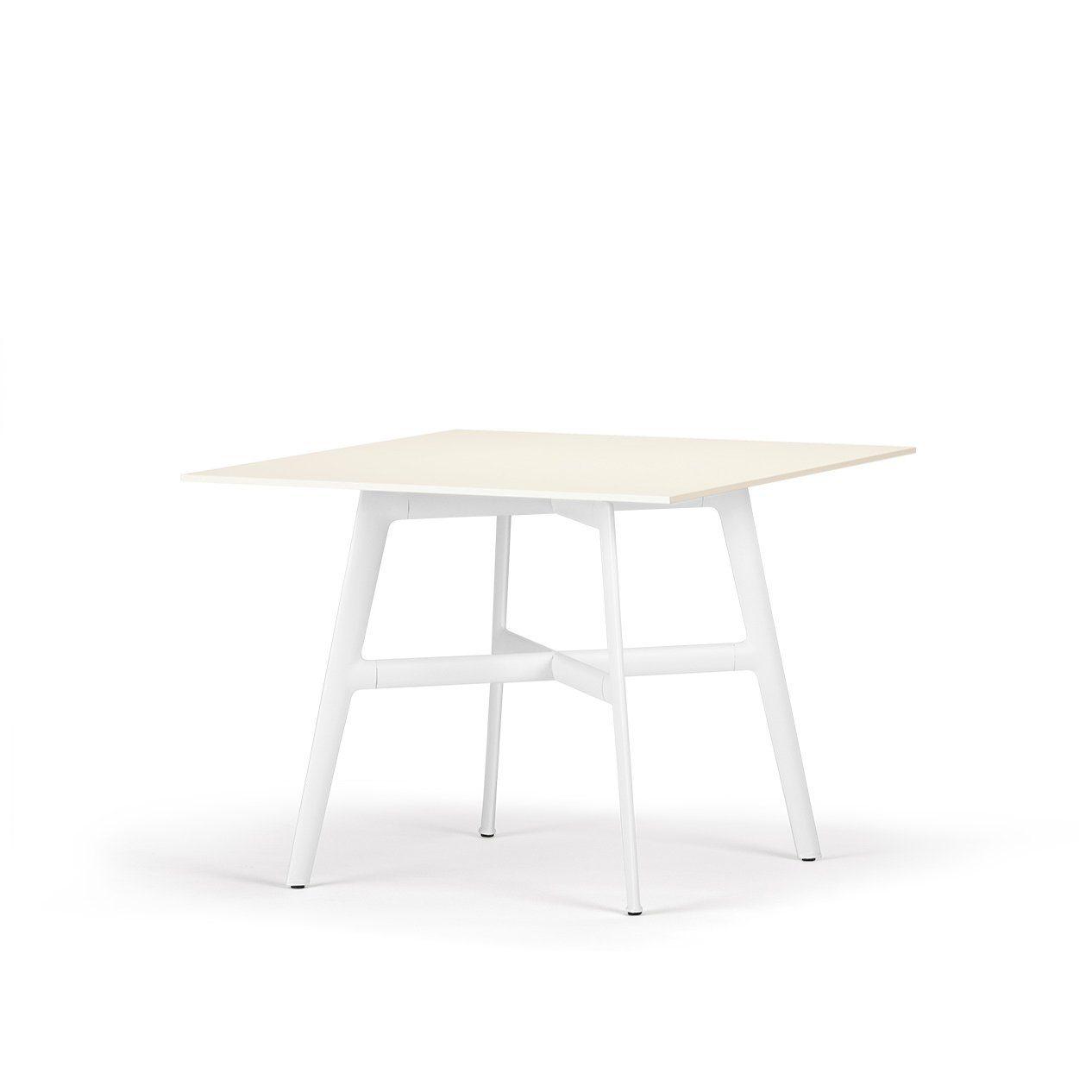 """Inspirierend Esstisch 100x100 Galerie Von Dedon 100x100cm """"seax"""", Aluminiumgestell Weiss, Tischplatte Lapitec®"""
