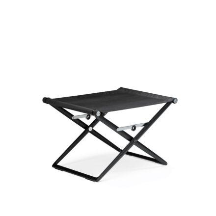 """DEDON Hocker """"SeaX"""", Gestell Aluminium schwarz, Bezug: Textilbespannung sail shade"""