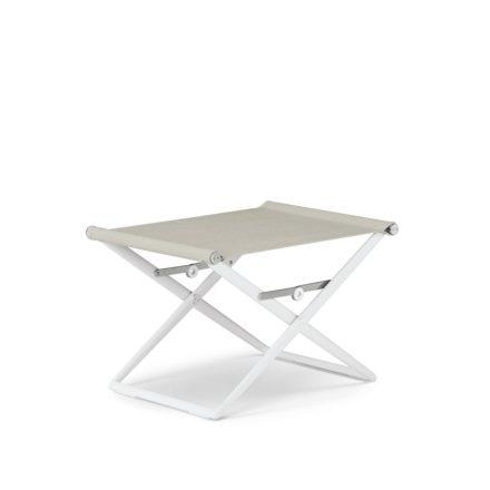 "DEDON Hocker ""SeaX"", Gestell Aluminium weiß, Bezug: Textilbespannung sail dove"