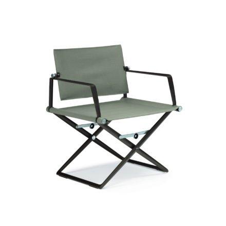 "DEDON Loungechair ""SeaX"", Gestell Aluminium black pepper, Bezug: Textilbespannung sail taupe"