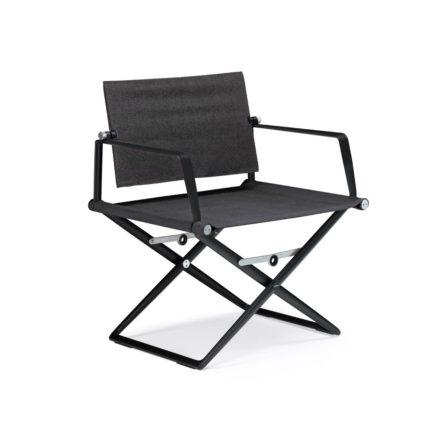 """DEDON Loungechair """"SeaX"""", Gestell Aluminium schwarz, Bezug: Textilbespannung sail shade"""