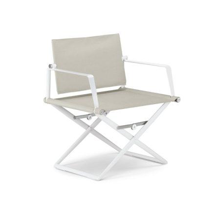 "DEDON Loungechair ""SeaX"", Gestell Aluminium weiß, Bezug: Textilbespannung sail dove"