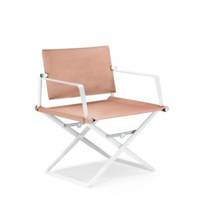 """DEDON Loungechair """"SeaX"""", Gestell Aluminium weiß, Bezug: Textilbespannung sail elemental light"""