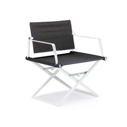 "DEDON Loungechair ""SeaX"", Gestell Aluminium weiß, Bezug: Textilbespannung sail shade"