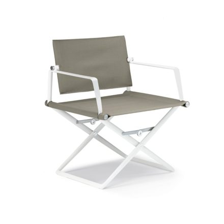 "DEDON Loungechair ""SeaX"", Gestell Aluminium weiß, Bezug: Textilbespannung sail taupe"