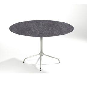 """Fischer Möbel """"Modena"""" Bistrotisch, Gestell Edelstahl, Tischplatte rund abklappbar"""