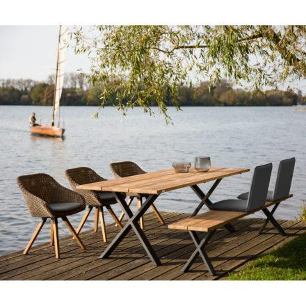 Niehoff Gartenmöbel-Set mit Bank und Tisch \
