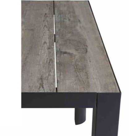"""Siena Garden """"Silva"""" Dining-Esstisch, Gestell Aluminium anthrazit, Tischplatte Keramik in gewaschenem grau"""