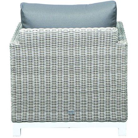 "Siena Garden Loungesessel ""Mia"", Gestell Aluminium weiß, Geflecht off-white, Polsterfarbe taupe, 100% Polyester"