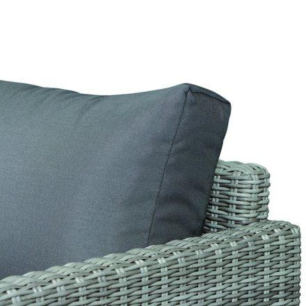 "Siena Garden Loungesofa ""Mia"", Gestell Aluminium weiß, Geflecht off-white, Polsterfarbe taupe, 100% Polyester"